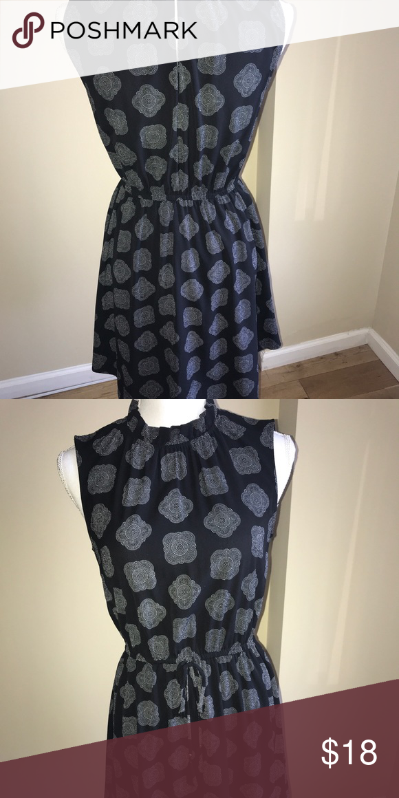 673c63592ccb H&M Short, casual black dress Gently used short dress. Black with  white/silver designs. H&M Dresses Mini