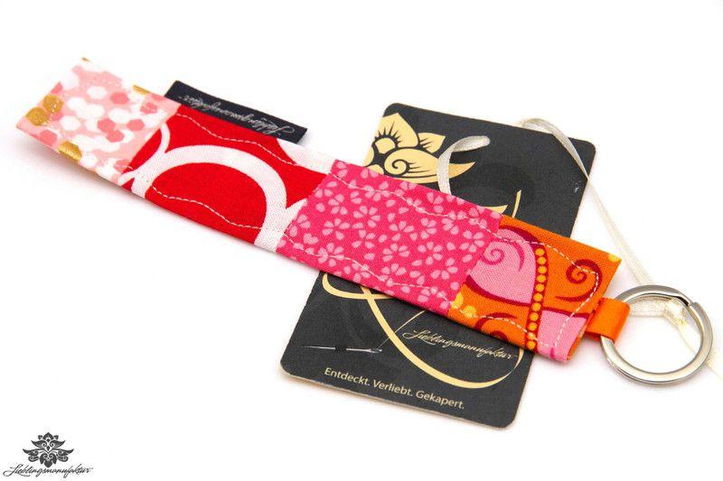 Schlüsselanhänger von #Lieblingsmanufaktur: orange, pink, rot