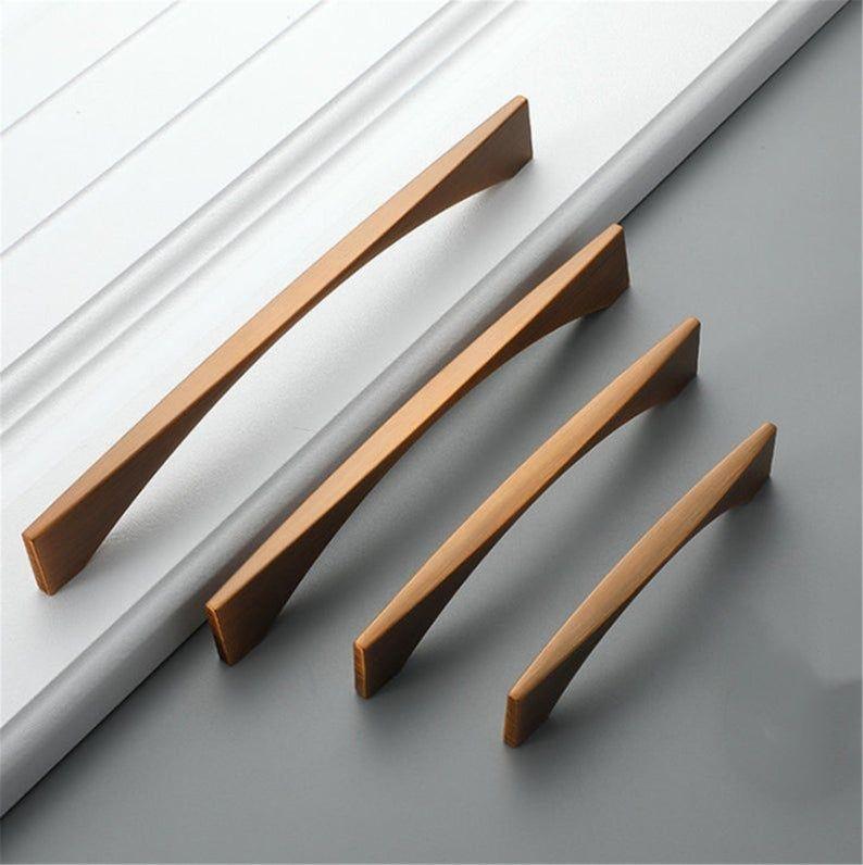 Solid Wardrobe Cabinet Knob Handle Cupboard Closet Furniture Drawer Door Pull