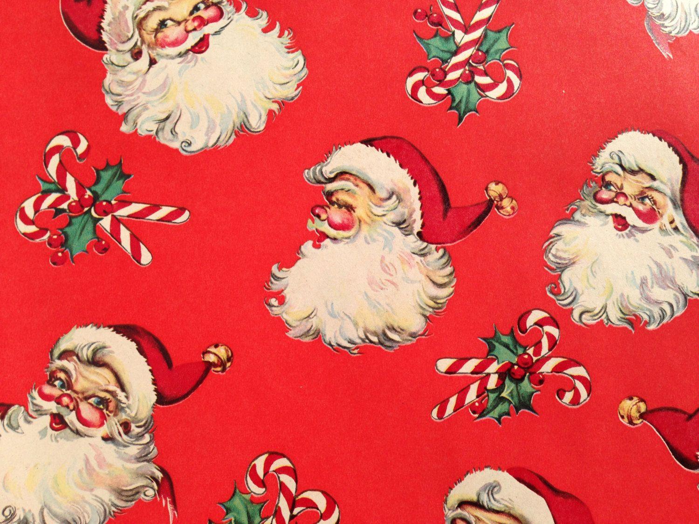 Vintage Santa Page Christmas Gift Wrapping Paper Vintage Christmas Wrapping Paper Vintage Christmas Gifts