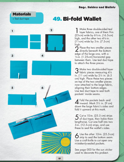 photograph relating to Duct Tape Wallet Instructions Printable known as Even further Amazing Duct Tape Assignments! GeekDad Women of all ages Camp Duct