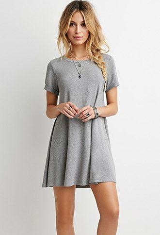 Simple Grey Shirt Dress