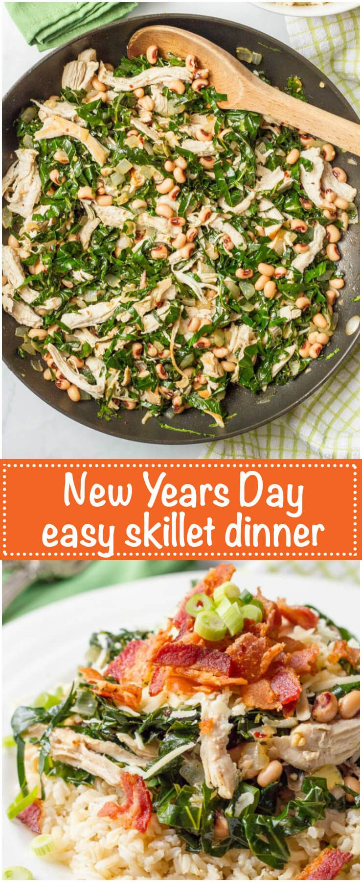 Southern New Year's Day dinner skillet Recipe Recipes