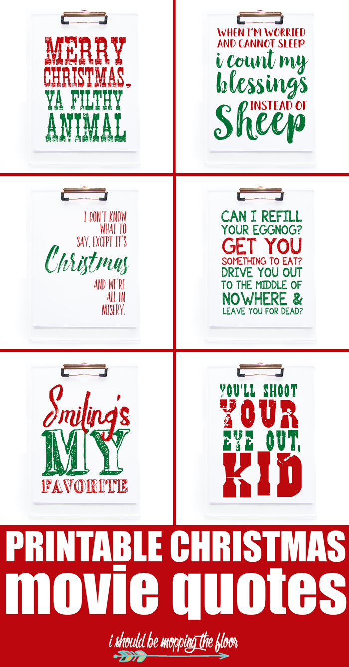 Printable Christmas Movie Quotes | Pin Only Your Best Pins | Pinterest