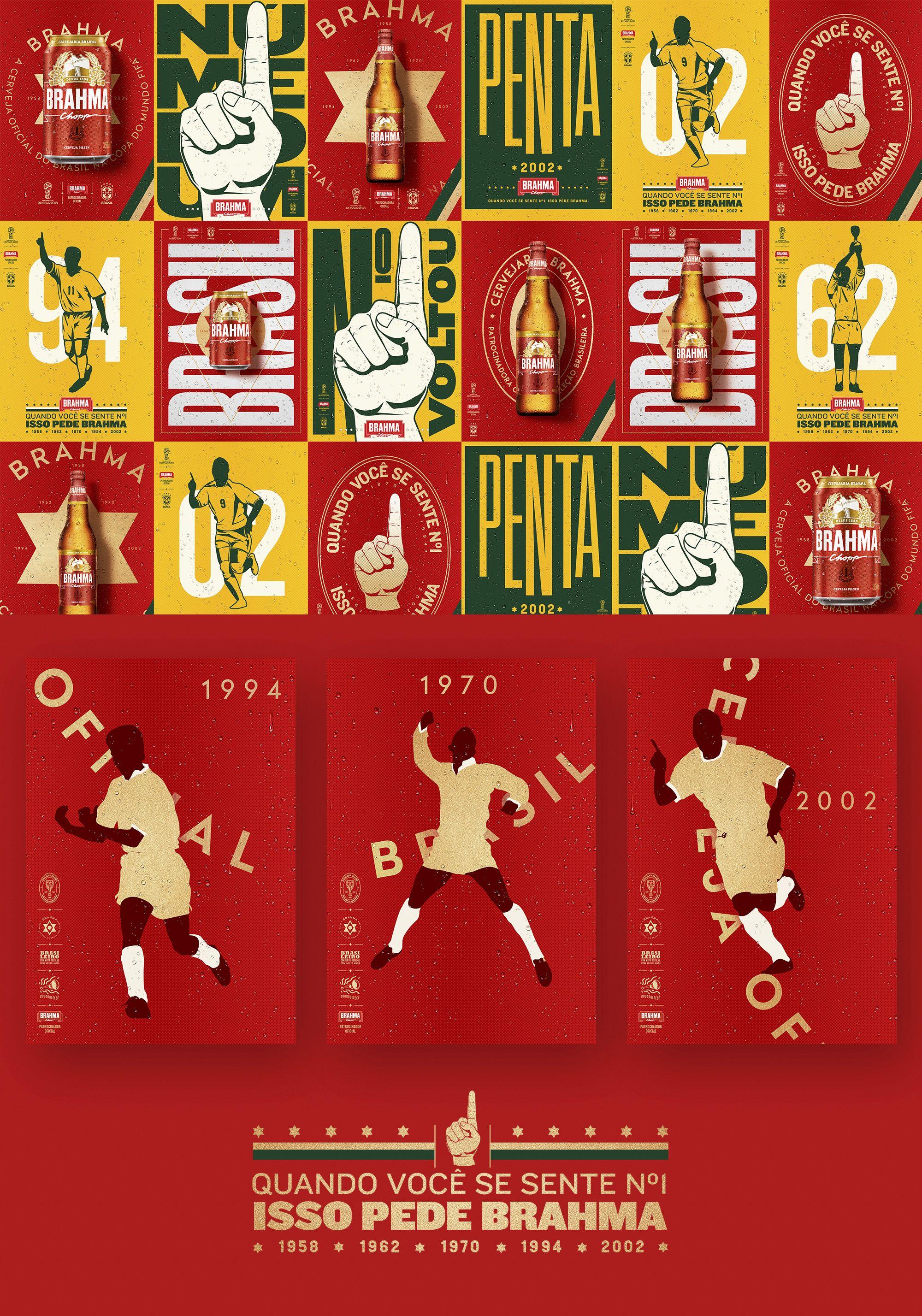 Maso Heck Art Director Brewery Brahma World Cup 2018 In 2020 Graphic Design Brochure Poster Design Bold Art