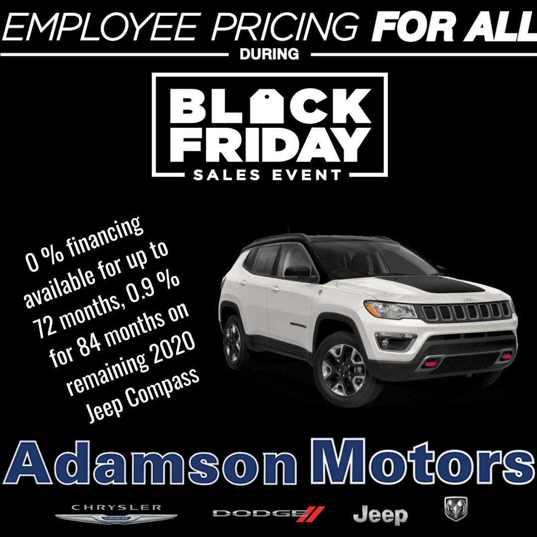 Blackfriday Sales Event Chrysler Chrysler Dodge Jeep Special