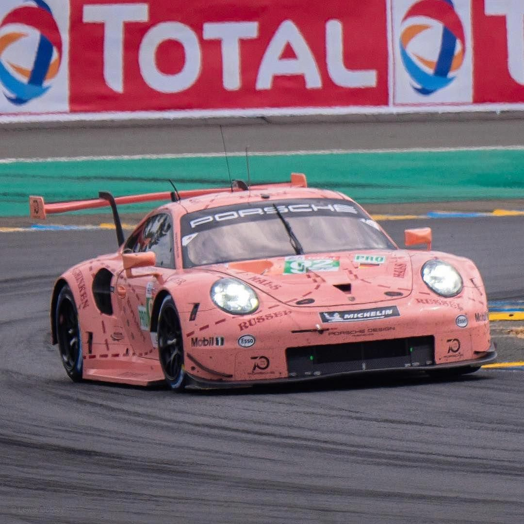 The number 92 porsche 911rsr pinkpig. This classic
