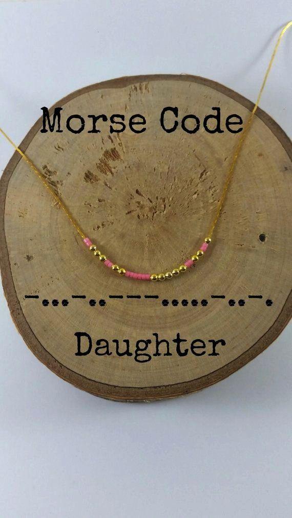 Morse Code Necklaces Secret Message Dainty Necklace Minimalist Morse Code Jewelry DAUGHTER Morse Code Necklaces Secret Message Dainty necklace Minimalist Morse code jewel...