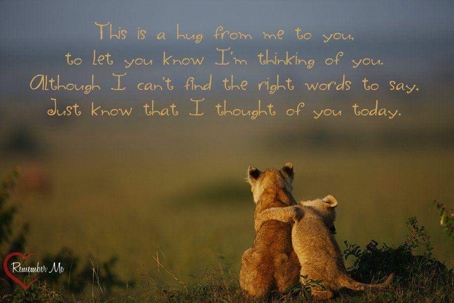 Sending A Hug Google Zoeken Hug Quotes Thinking Of You Quotes Sympathy Thinking Of You Quotes