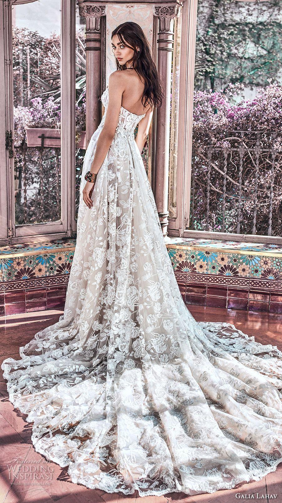 galia lahav spring 2018 bridal strapless sweetheart neckline full embellishment romantic princess a  line wedding dress mid back chapel train (georgia) bv -- Galia Lahav Spring 2018 Wedding Dresses