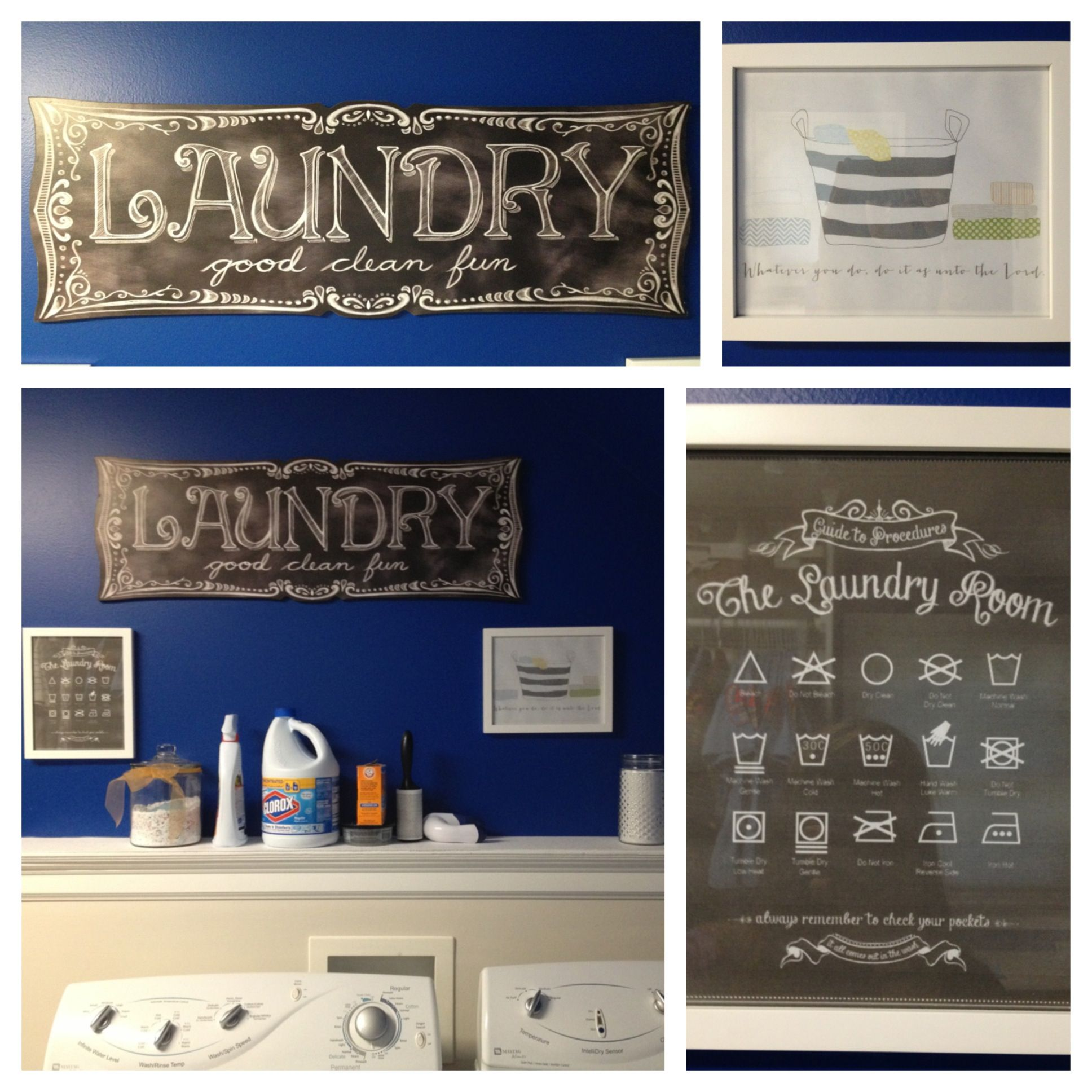 Laundry room complete :-) paint color blue blood from Sherwin ...