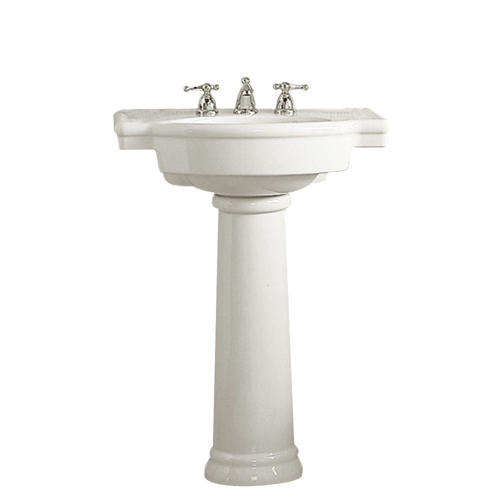 American Standard Retrospect Pedestal Combo Bathroom Sink In White