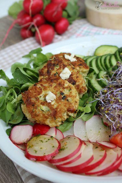 Vegetarische Quinoa-Buletten mit Schafskäse: http://ullatrullabacktundbastelt.blogspot.de/