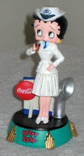 Betty Boop Coca-Cola Navy Outfit Figurine Limited Edition Naval Uniform Figure Vandor 11355 Coke NIB $20