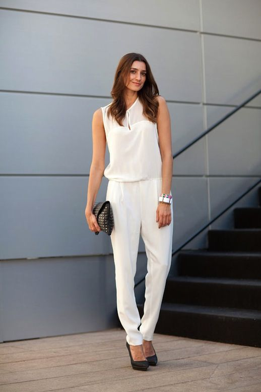 6c4629ea01ed 5 Ways To Wear A White Jumpsuit