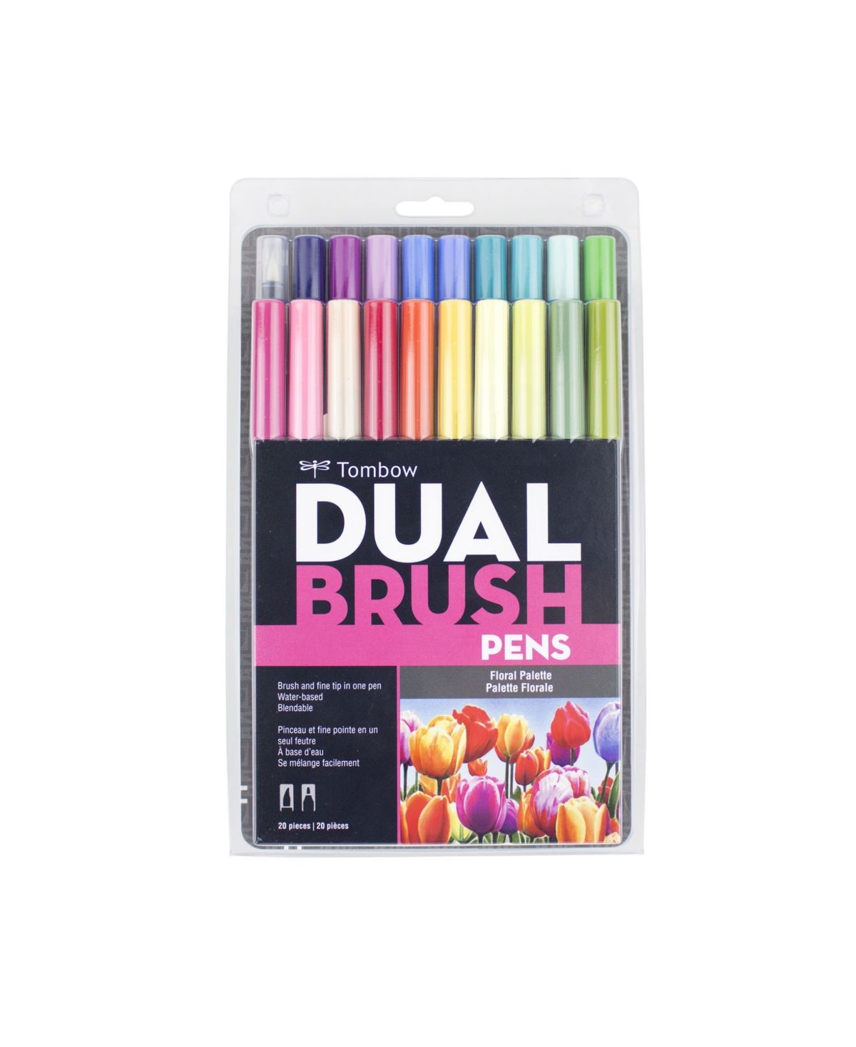 Tombow Dual Brush Pen Art Markers Floral Palette 20 Pack