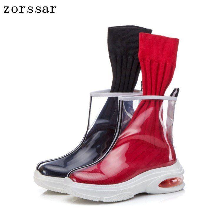 8ec49de3a55d Купить товар  Zorssar  Модные прозрачные сапоги женская летняя обувь 2019  г. новые женские