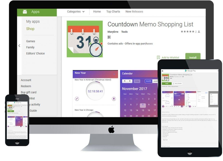 Countdown Calendar On Android in 2020 Countdown calendar
