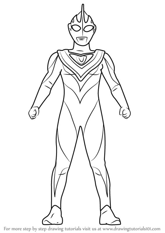 Learn How To Draw Ultraman Gaia Ultraman Step By Step Drawing Tutorials Drawing Tutorial Drawings Learn To Draw