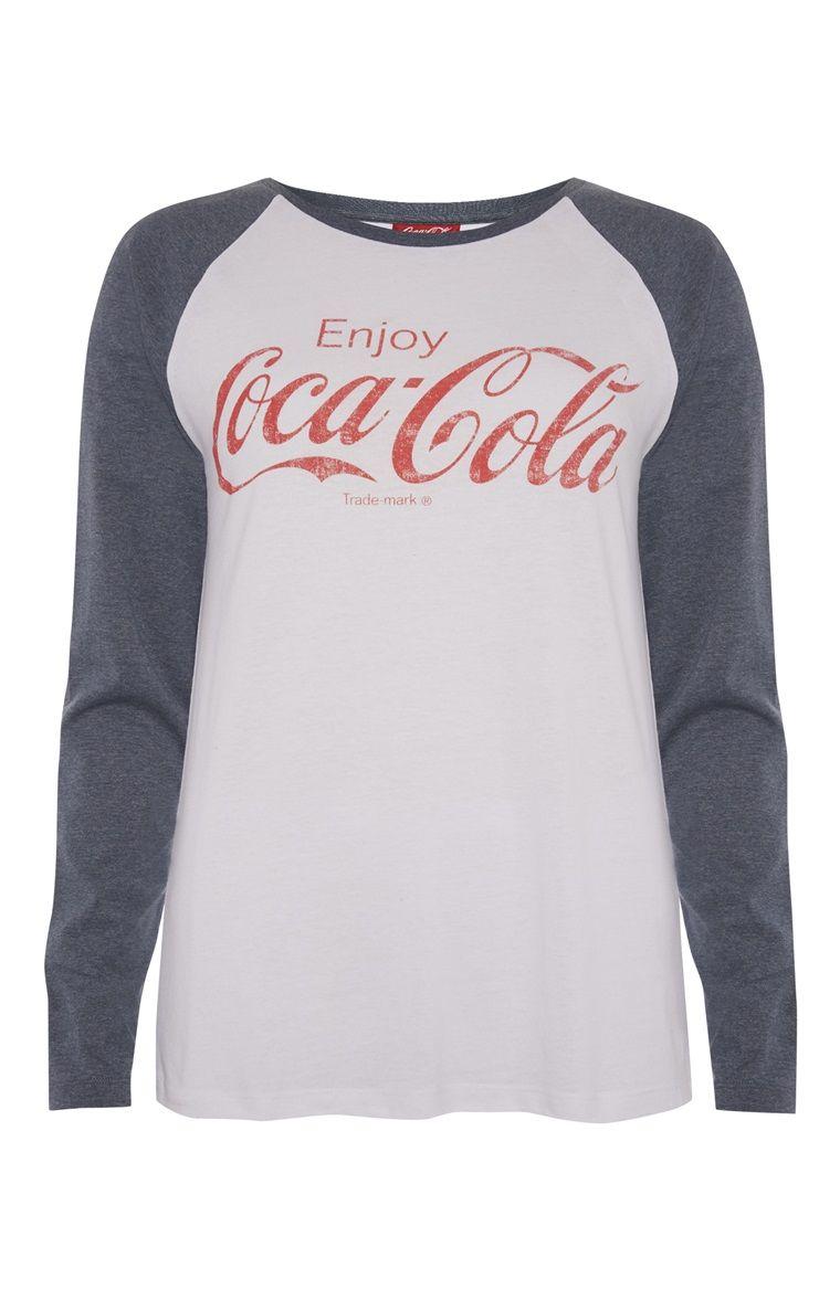 2acc246ef Primark - Grey Coca Cola Raglan T-Shirt | Cute clothes | Coca cola ...