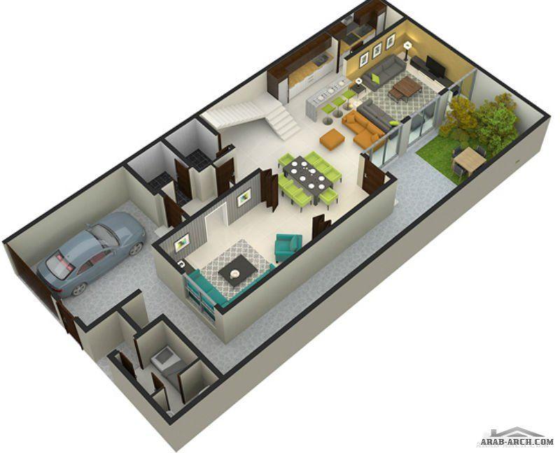 فيلا سعودية منفصلة مساحة الأرض 200 م ومساحة البناء 325 م Arab Arch My House Plans House Floor Plans House Design