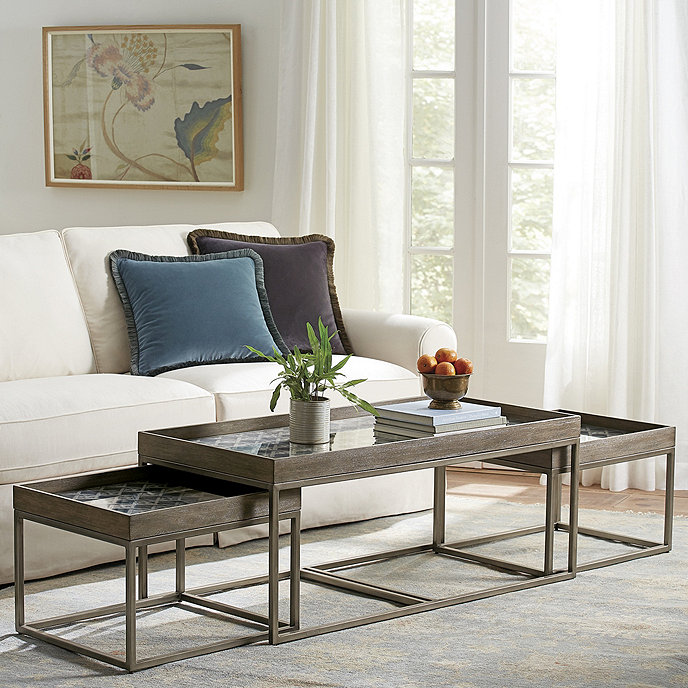 Nichele Nesting Coffee Tables In 2020 Coffee Table Metal Frame
