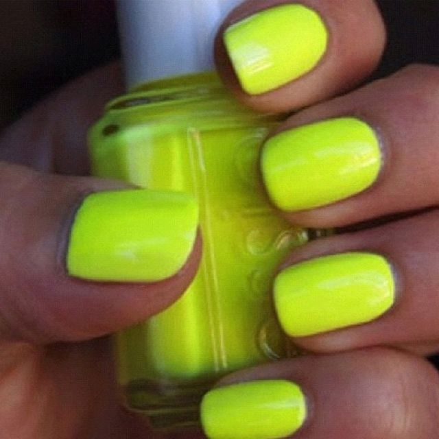 Image By Marrybell Maduro On Nail Design Neon Yellow Nails