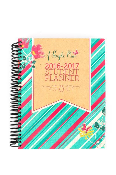 a simple plan homeschool student planner 2016 17 shabby chic