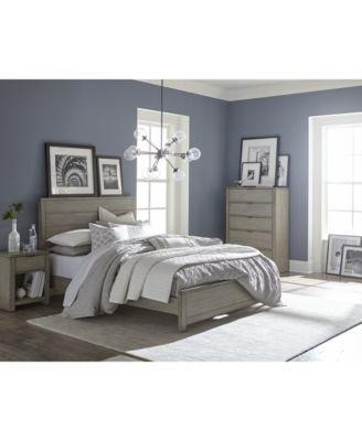 Grey Bedroom Set, 3-Pc. Set (King Bed, Dresser & Nightstand ...