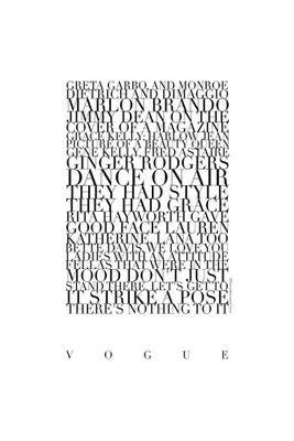 103+ Madonna Vogue Lyrics   Canvas Print