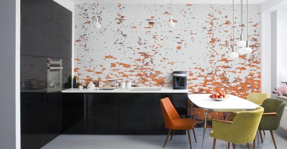 Carbonation Burnt Umber Modern Kitchen Tiles Design Modern Kitchen Design Contemporary Kitchen Design