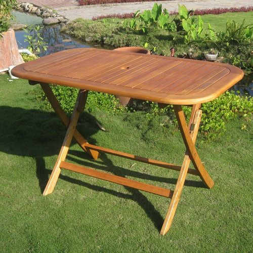 Sabbattus Folding Dining Table Outdoor Folding Table Patio