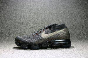5568a26a7b015 Nike Air VaporMax Flyknit Women s Running Shoes Black Charcoal-Orange