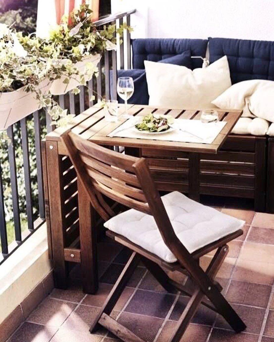 Salon De Jardin En 2020 Petits Meubles De Balcon Design De Petit Balcon Decoration Petit Balcon
