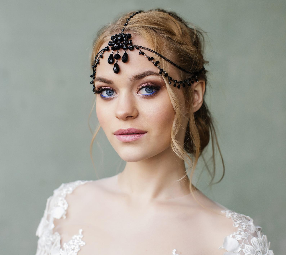 Great Gatsby Headpiece Bridal Hair jewelry forehead band ...