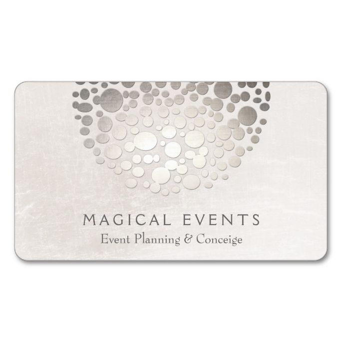 Modern event coordinator silver circles off white double sided modern event coordinator silver circles off white double sided standard business cards pack of 100 make your own business card with this great d colourmoves