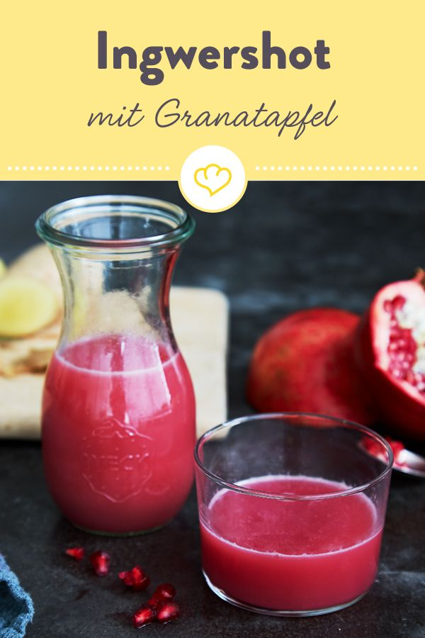 Photo of Ingwer-Granatapfel-Shot mit Blutorange