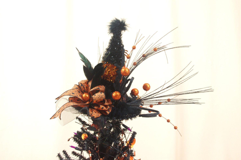 Orange Halloween Tree Topper * Witch Hat Tree Topper