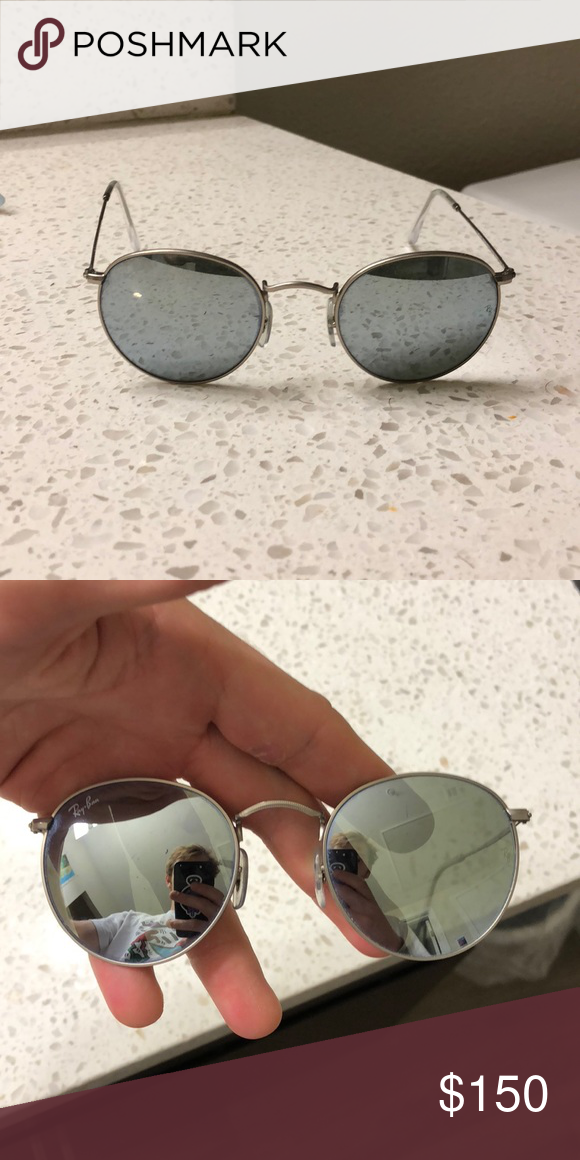 Ray Bans Round Flash Lens Matte Silver is part of Clothes Dresses Ray Bans - cloth