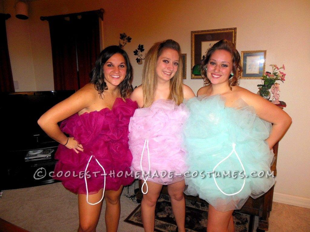 fun group halloween costume loofah girls - Girl Group Halloween Costume