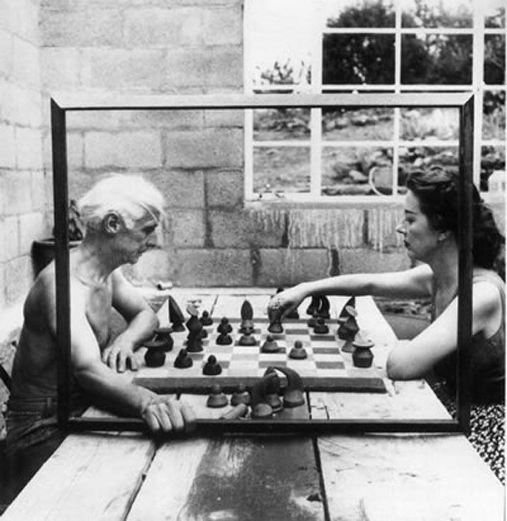 chess - frame it: Max Ernst & Dorothea Tanning