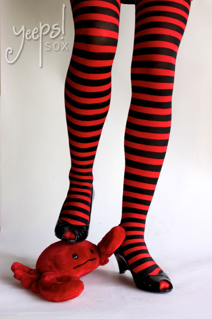 Leg Avenue ~ Red and Black Striped Tights. $7.00 tights, stockings, red and - Leg Avenue ~ Red And Black Striped Tights. $7.00 Tights, Stockings