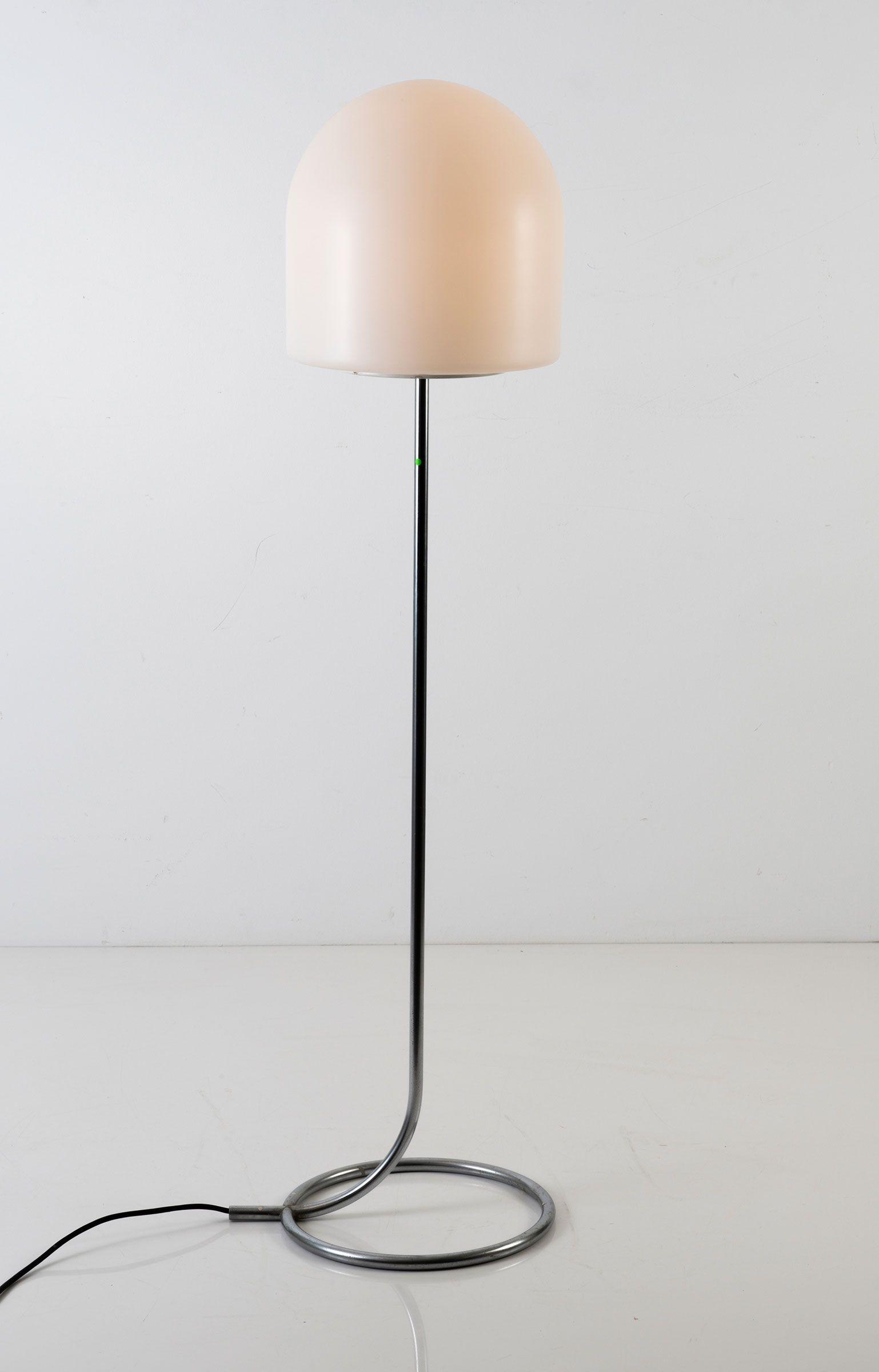 Aldo van den Nieuwelaar; Chromed Metal A250 Floor Lamp for