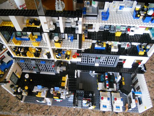 The Police Station At Lego City Lego City Police Station Lego