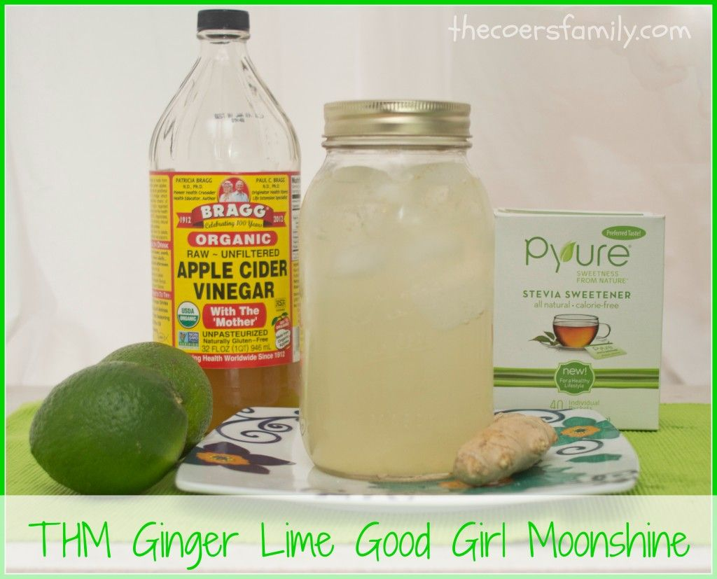 Trim Healthy Mama Ginger Lime Good Girl Moonshine - Freeze ginger, easier to grate.