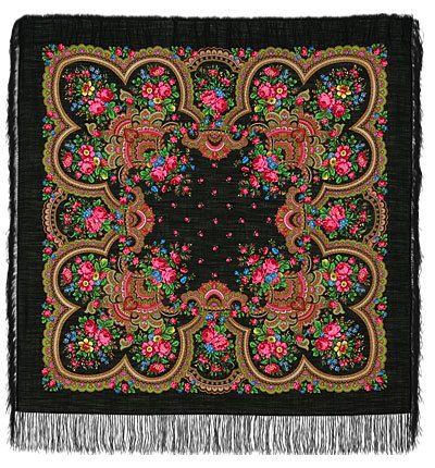 125X125cm russe Pavlovo Possad châle écharpe laine par Russianworld, $75.00