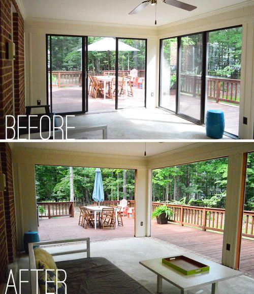 Open Er Up Converting A Sunroom Into A Veranda Our