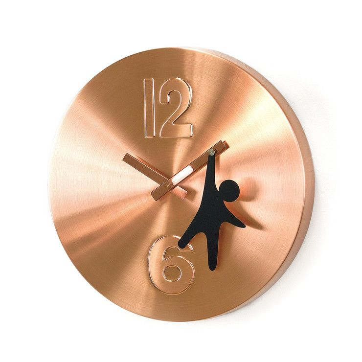 So Into This Design On Fab Copper Man Wall Clock 12 Fabforall Clock Wall Clock Wall Clock Modern