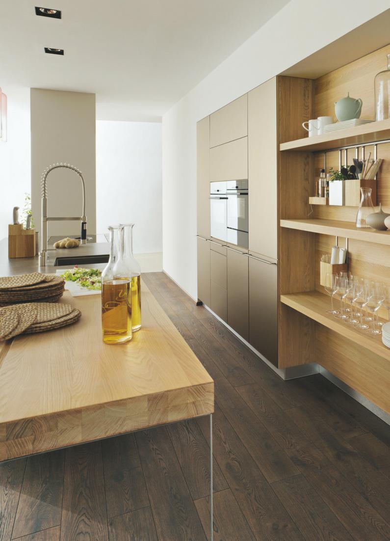 Küchenfronten holzoptik  Moderne Küche für Loft Wohnung von Team 7 | Boden