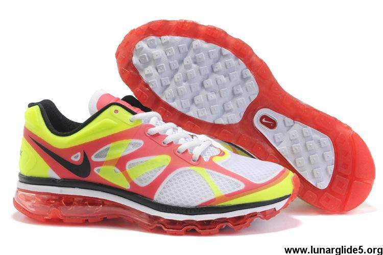 Mens Nike Air Max 2012 Mens White Red Yellow